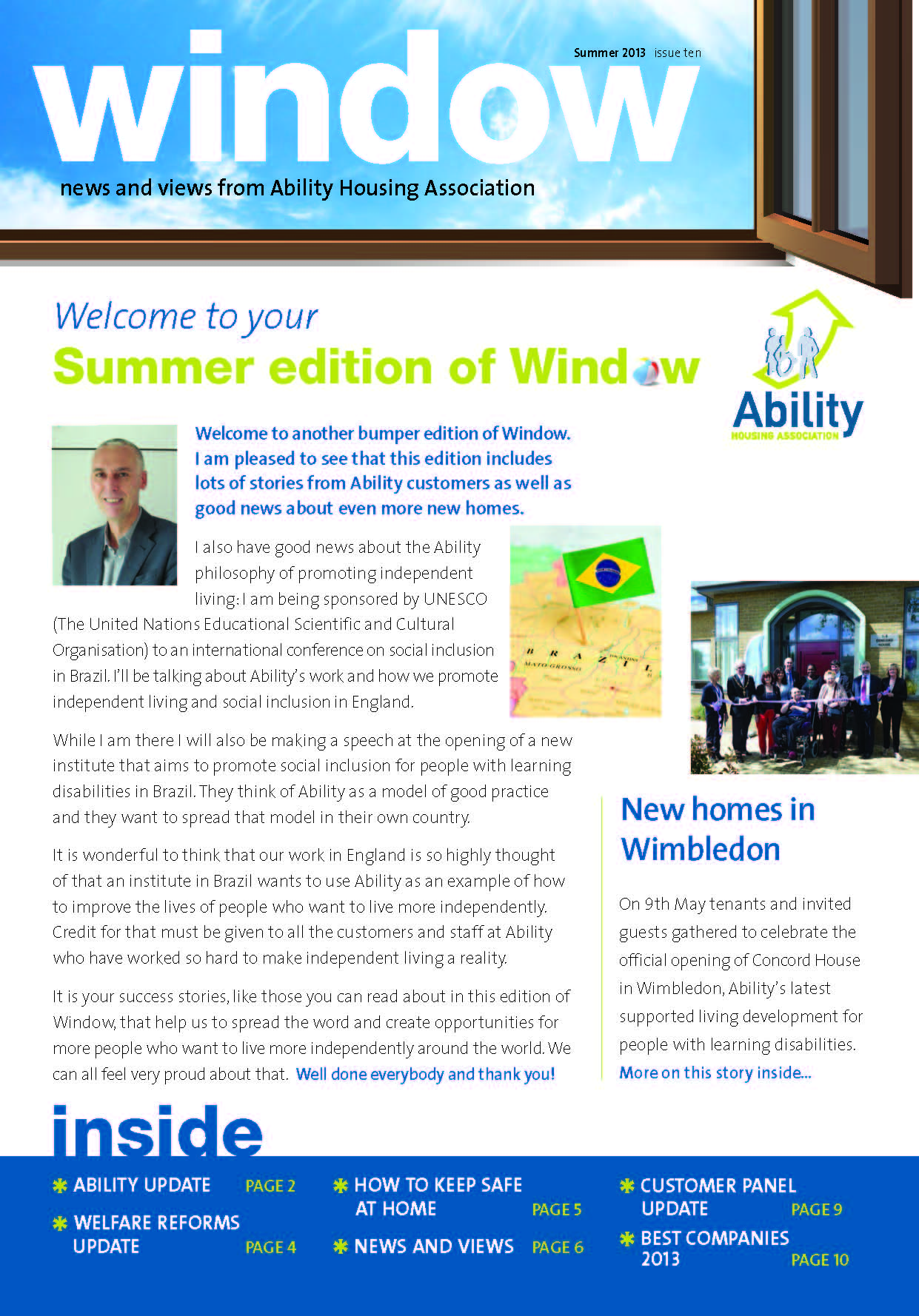 front cover of Window summer 2013